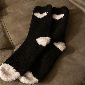 NEW LISTING! NWOT Fuzzy Heart Socks